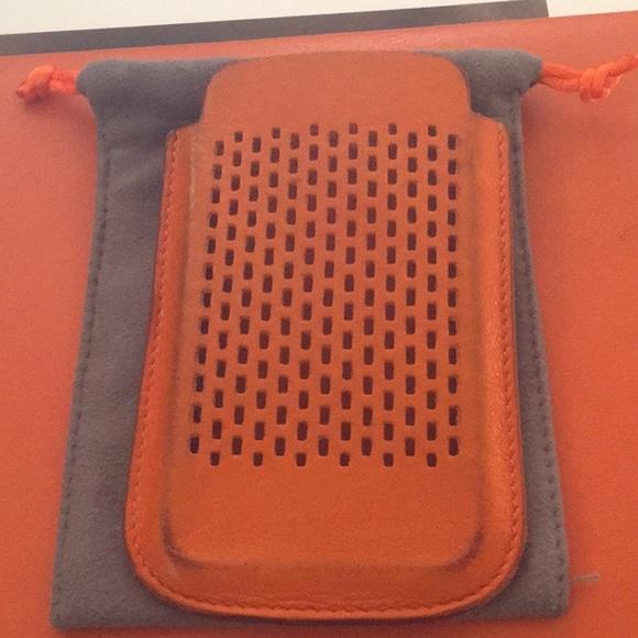 HERMES Orange Leather Swift iPhone 4/4S Holder